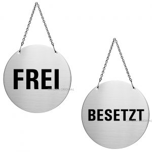 Edelstahl Türhänger Frei/Besetzt