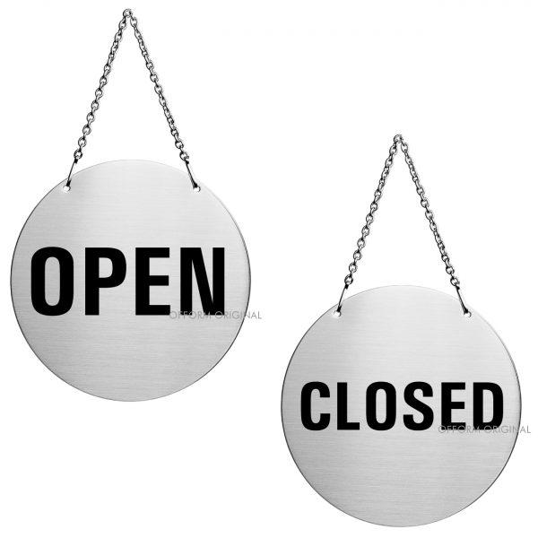 Edelstahl Türhänger Open/Closed