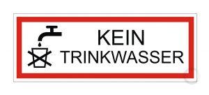 Schild Ken Trinkwasser