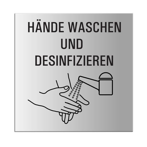 """OFFORM Hygieneschild """"Hände waschen und desinfizieren"""""""