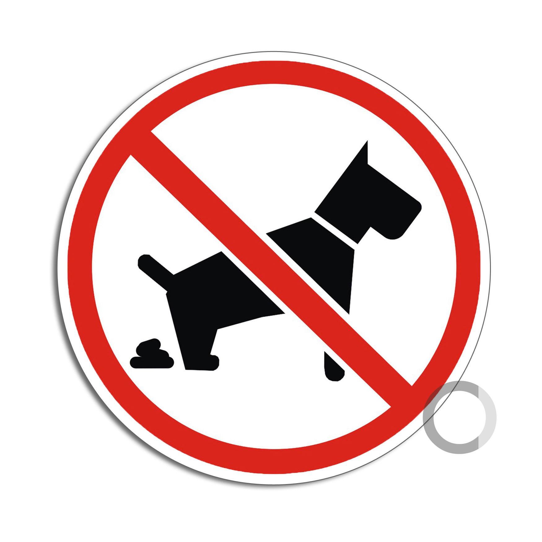 UV Beständig Aufkleber kein Hundeklo 100 mm Durchmesser Wetterfest