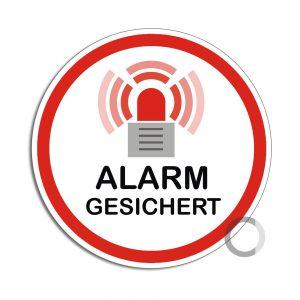 Schild Alarm gesichert