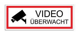 Schild Video überwacht