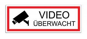 Schild Video überwacht