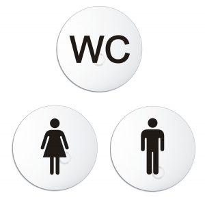 Schilder Set WC