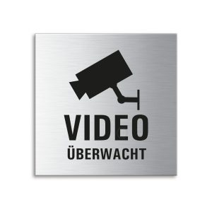 Schild Video überwacht 70 x 70 mm